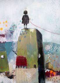 Acrylmalerei, Punkt, Rumstehen, Graffiti