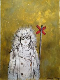 Eskimo, Winter, Schnee, Brille