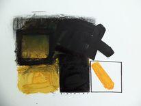 Schwarz, Abstrakt, Weiß, Gelb