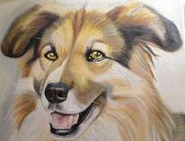Portrait, Hund, Malerei, Tiere