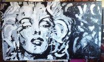 Acrylmalerei, Großformat, Spachteltechnik, Malerei