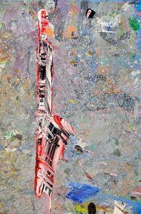 Farben, Schwert, Excalibur, Ölmalerei