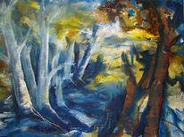 Baum, Wald, Licht, Blau
