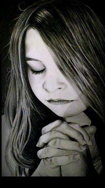 Betende, Beten, Zeichnung, Glaube