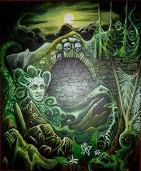 Medusa, Nacht, Unterholz, Fabelwesen