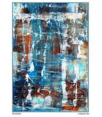 Abstrakt, Mischtechnik, Farben, Blau