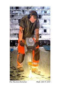 Bauarbeiter, Menschen, Natur, Pflasterarbeit