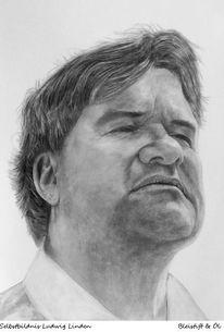 Selbstportrait, Zeichnung, Ölmalerei, Ludwig linden