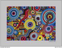 Kreiselbild von cnipper, Farben, Mischtechnik, Rot