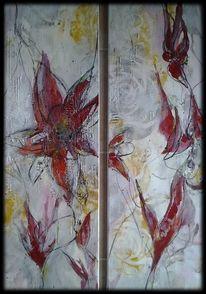 Blumen, Gelb, Abstrakte malerei, Dekoration