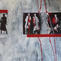 Schwarz, Linie, Model, Rot