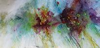 Bunt, Abstrakte malerei, Farben, Blumen