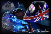 Airbrush, Motorradhelm, Helm