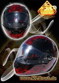 Helm, Airbrush, Motorradhelm