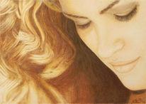 Zeichnung, Gesicht, Gia carangi, Bleistiftzeichnung