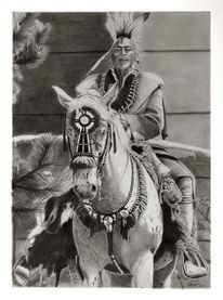 Menschen, Pferde, Portrait, Bleistiftzeichnung