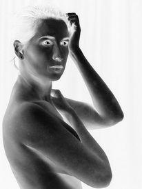 Schwarzweiß, Fotografie, Portrait, Frau