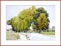 Baum, Frühling, Aquarell,