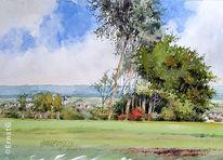 Landschaft, Aquarell,