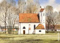 Frühling, Kapelle, Malerei,
