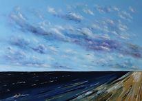 Seelandschaft, Meer, Ostsee, Wolken