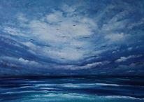 See, Seelandschaft, Meer, Wolken