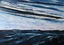 Ostsee, Meer, Wolken, Malerei