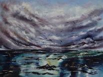 Wolken, Natur, Meer, Malerei