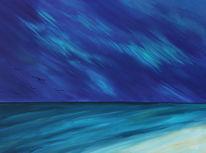 Polarlicht, Malerei, Gemälde