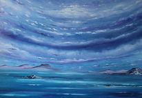 Meer, Seelandschaft, See, Malerei