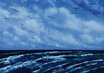 Seelandschaft, Wolken, See, Wasser