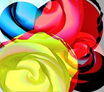 Farben, Digitale kunst, Elemente, Chaos