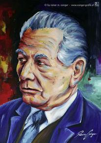 Mann, Ölmalerei, Portrait, Gesicht