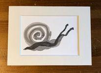 Schwarz, Zeichnung, Passepartout, Tuschmalerei