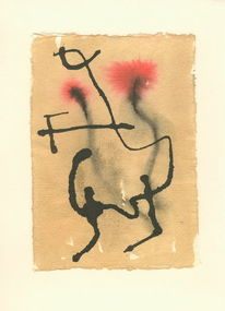 Tuschmalerei, Rot, Abstrakt, Aquarellmalerei