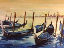 Boot, Abend, Italien, Hafen