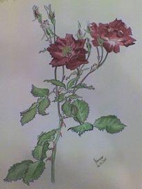 Blumen, Aquarellmalerei, Farben, Malerei
