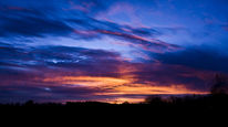 Horizont, Sonnenaufgang, Himmel, Wipfel