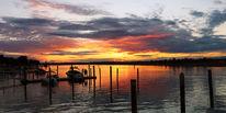 Meer, Boot, Sonnenuntergang, Schatten