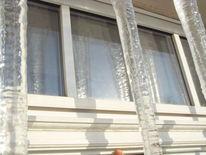 Eiszapfen, Spiegelung, Dach, Fenster