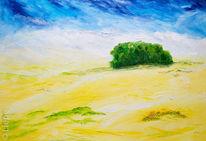 Wolken, Acrylmalerei, Feld, Hain