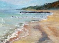 Strand, Pastellmalerei, Ostsee, Usedom