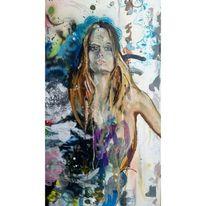 Figur, Körper, Frau, Acrylmalerei