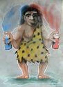 Neandertaler, Graffiti, Sprayer, Sdunek