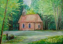 Himmel, Kapelle, Baum, Gras