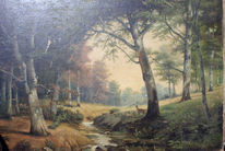 Wald, Fruth, Reh, Malerei