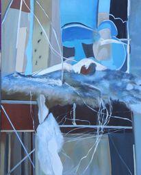 Räumlichkeit, Ölmalerei, Baustelle, Malerei