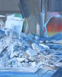 Ölmalerei, Baustelle, Chaos, Malerei