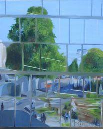 Spiegelung, Blickwinkel, Architektur, Malerei