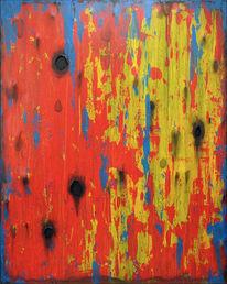 Gelb, Blau, Loch, Rot